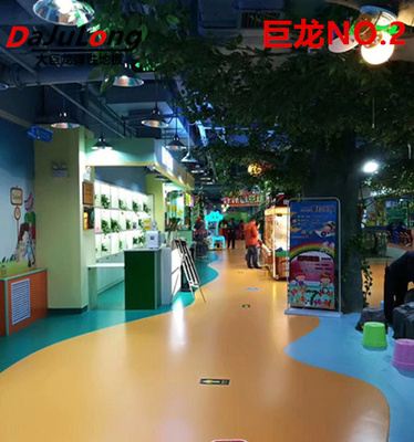 Big dragon NO.2 series - pure color PVC floor